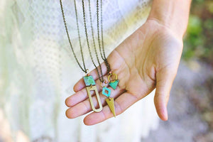Brass Patina Necklace - Medium Assortment