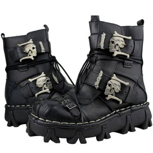 Leather Skull boots