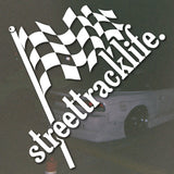 STREET TRACK LIFE Flag Sticker