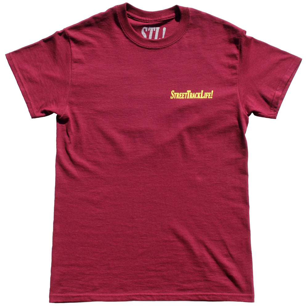STL! 2018 T-Shirt (Burgundy/Yellow)