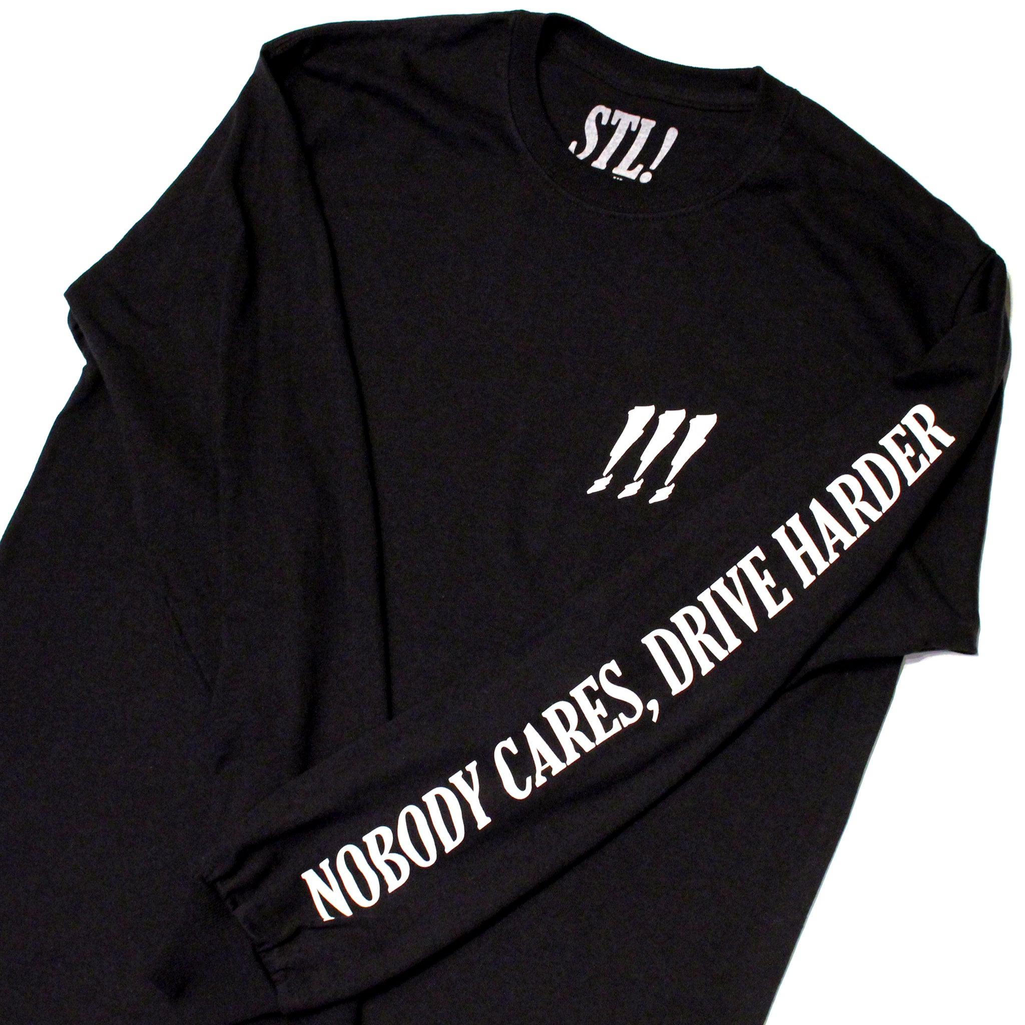 STL! Black/White Long Sleeve T-Shirt
