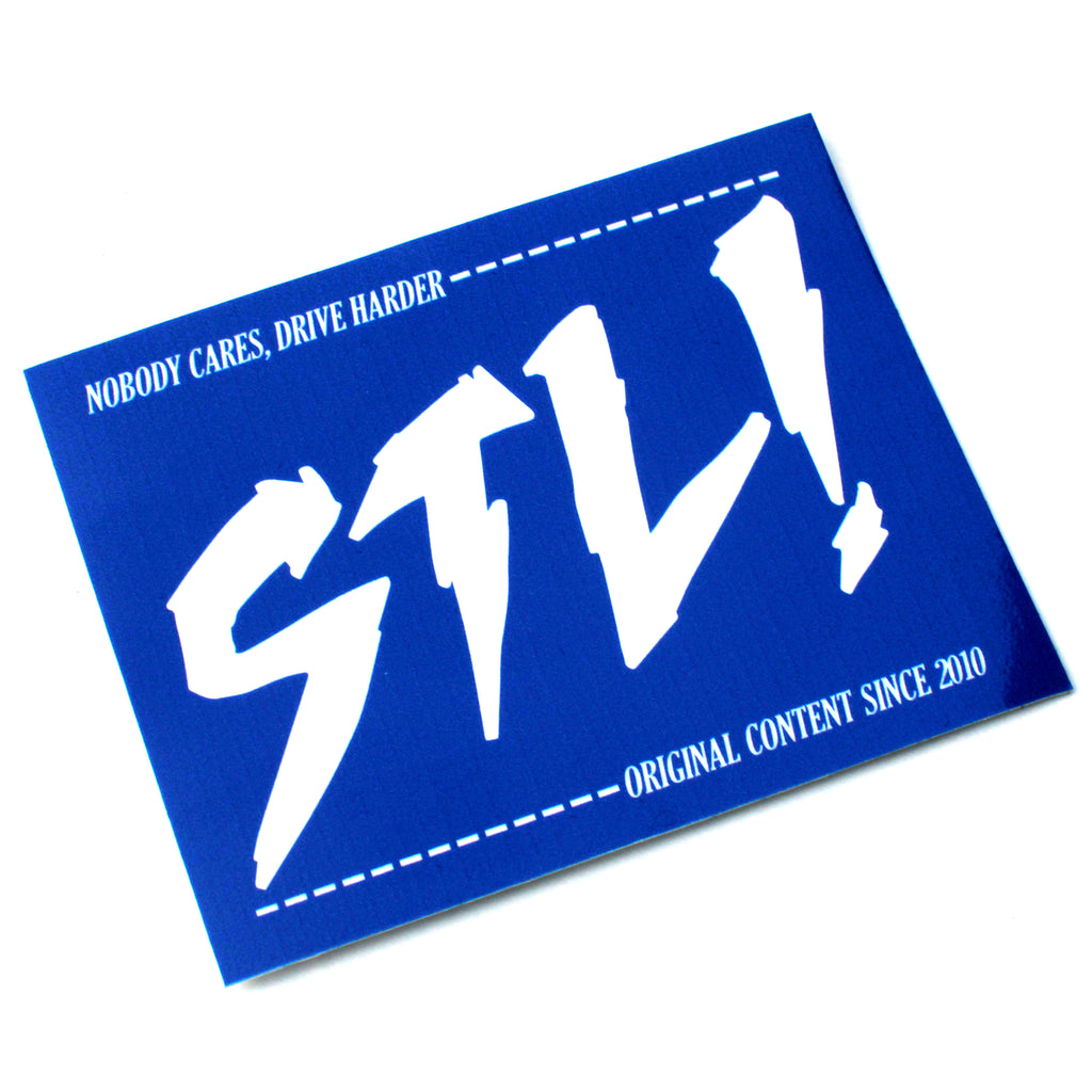 STL! Blue/White NOBODY CARES Sticker