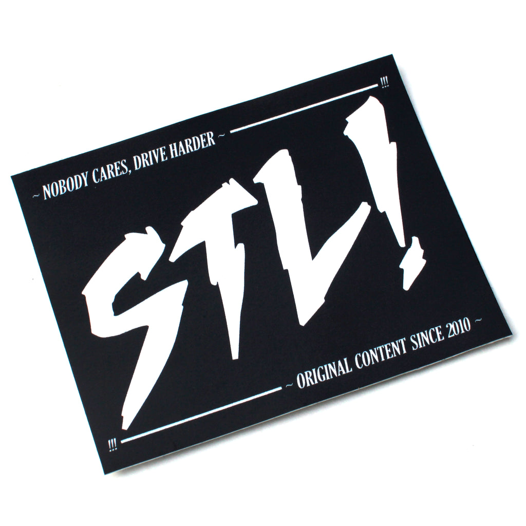 STL! Black/White NOBODY CARES Sticker