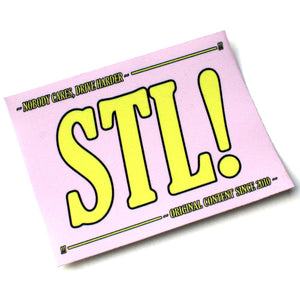 STL! Pink/Yellow NOBODY CARES Sticker