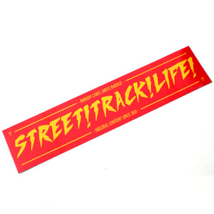 STREET TRACK LIFE! Red/Yellow NOBODY CARES Sticker