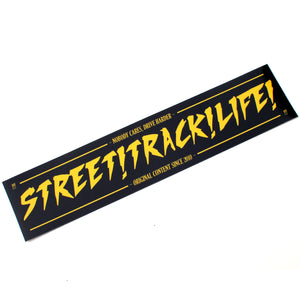 STREET TRACK LIFE! Black/Yellow NOBODY CARES Sticker