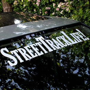 STREET TRACK LIFE 2018 Windscreen Sticker