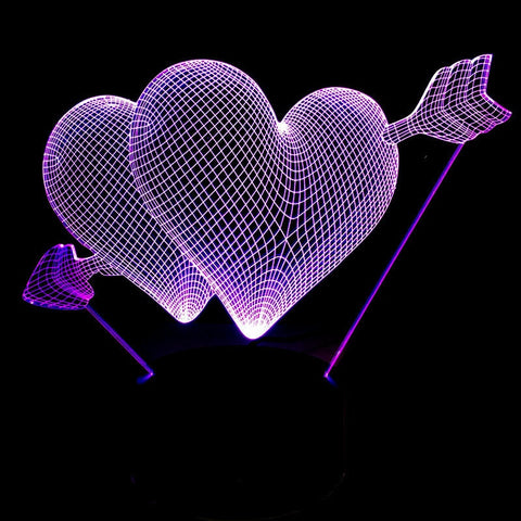 3D Heart Lamp - Looker Gifts