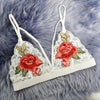 Image of Rose Embroidered Bralette - Looker Gifts