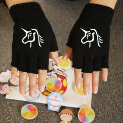 Luminous Unicorn Half Finger Gloves