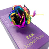 Image of Golden Multicolor Rose W/Box - Looker Gifts