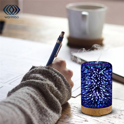 3D Galaxy Lights Oil Diffuser - Looker Gifts