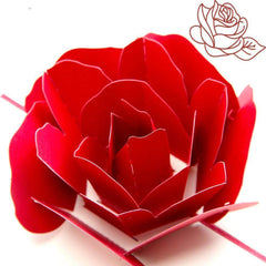 3D Pop up Rose Card