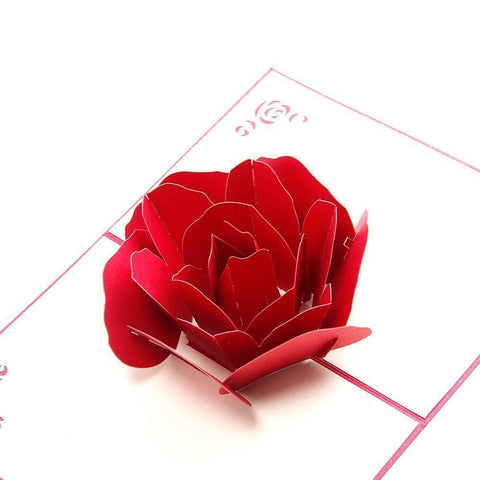 3D Pop up Rose Card - Looker Gifts