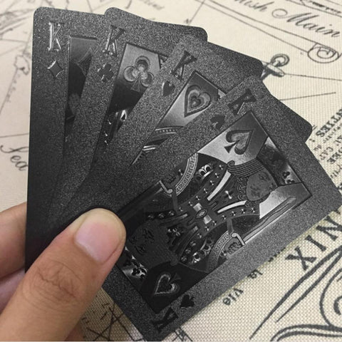 Waterproof Black Diamond Playing Cards - Looker Gifts