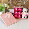 Image of Romantic Gift Box w/Rose Soaps and Bear - SALE! - Looker Gifts