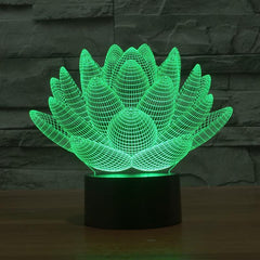 3D Lotus Flower Table Lamp