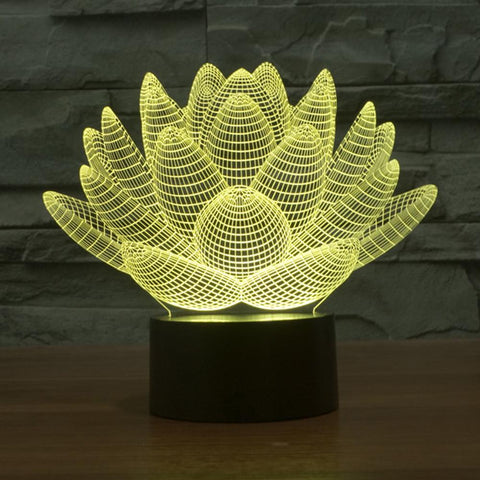 3D Lotus Flower Table Lamp - Looker Gifts