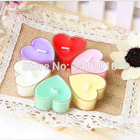 9pcs Heart Shape Tealight Candles - Looker Gifts