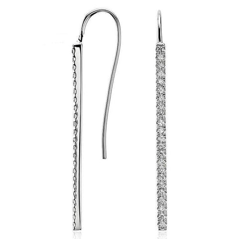 Straight Drop Diamond Earrings - Looker Gifts