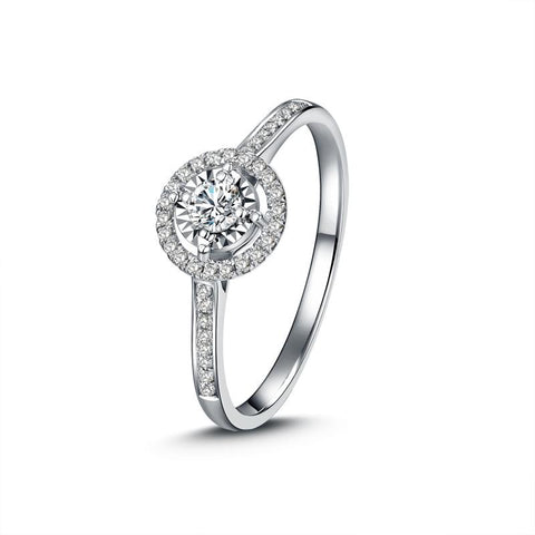 Double Sphere Diamond Ring - Looker Gifts
