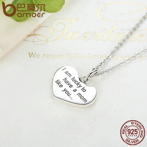 Lucky To Have A Mom Like You Baby Feet Necklace - Looker Gifts