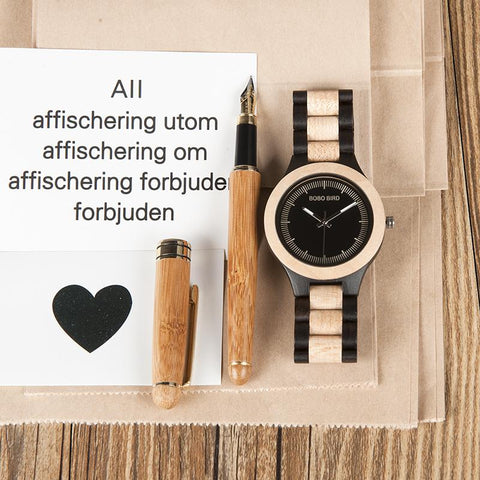 Antique Bamboo Watch with Wooden Band - Looker Gifts