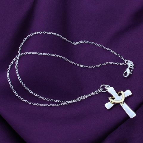 Silver Plated Love Cross - Looker Gifts