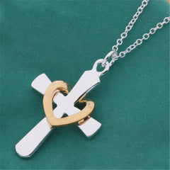 Silver Plated Love Cross
