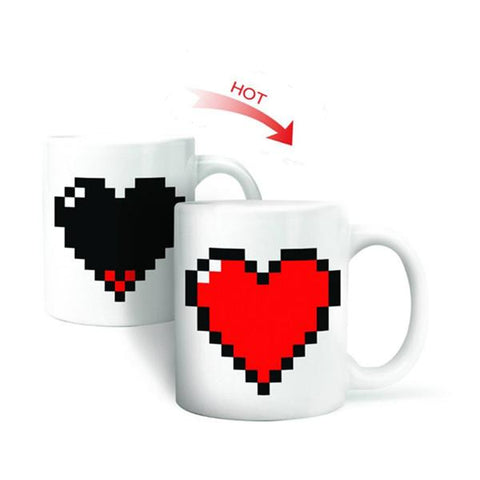 Pixel Heart Heat Changing Mug - Looker Gifts