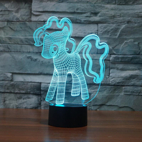 Little 3D Pony Illusion Lamp - Looker Gifts