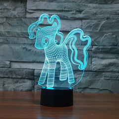 Little 3D Pony Illusion Lamp
