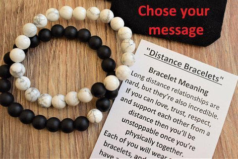 His & Hers Distance Bracelets - Looker Gifts