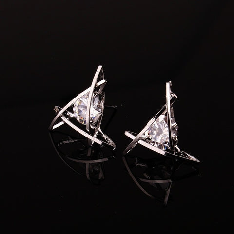 Triangle Zircon Earrings - Looker Gifts