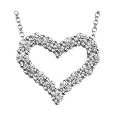 Classic Heart Diamond Necklace