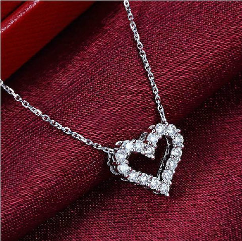 Classic Heart Diamond Necklace - Looker Gifts