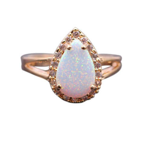 Opal Diamond Waterdrop Ring - Looker Gifts