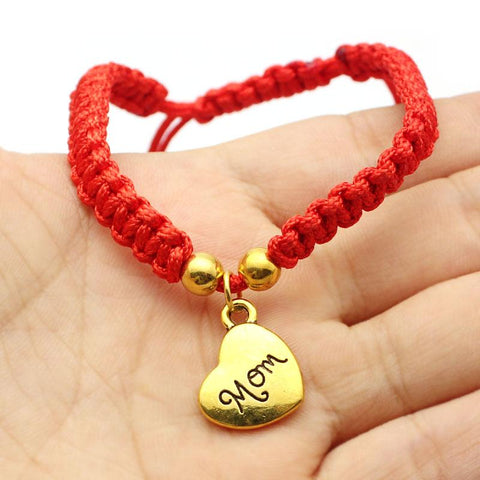 Mom's Red Threaded Bracelet - Looker Gifts