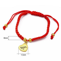 Mom's Red Threaded Bracelet
