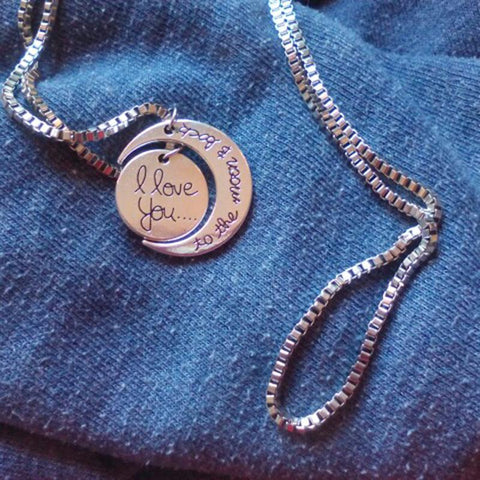 To the Moon and Back Silver Necklace - Looker Gifts