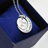 Image of To the Moon and Back Silver Necklace - Looker Gifts