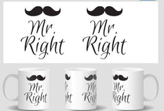 Mr. Right & Mrs. Always Right 2 Mug Set