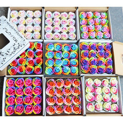 Multicolor Rose Soap Gift Box 16PCS/box
