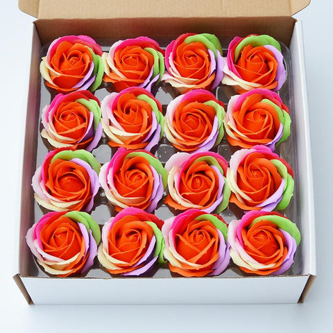 Multicolor Rose Soap Gift Box 16PCS/box - Looker Gifts