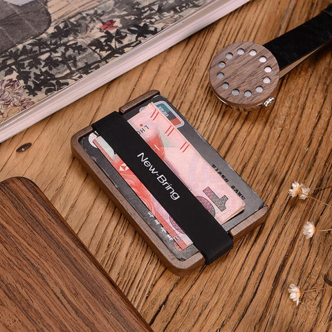 NewBring Handmade Wooden Wallet - Looker Gifts