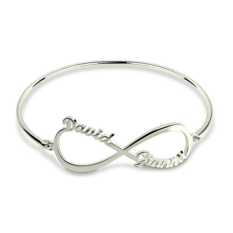 Personalized Infinity Name Bangle - Looker Gifts