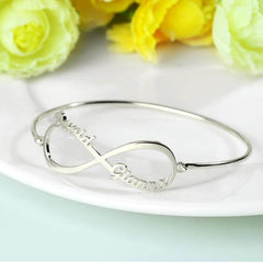 Personalized Infinity Name Bangle