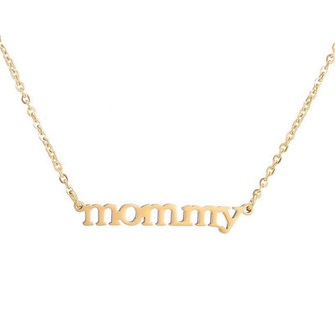 Gold or Silver Mommy Necklace - Looker Gifts