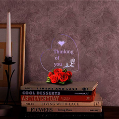 Heart Shaped LED Light (Multiple Phrases)