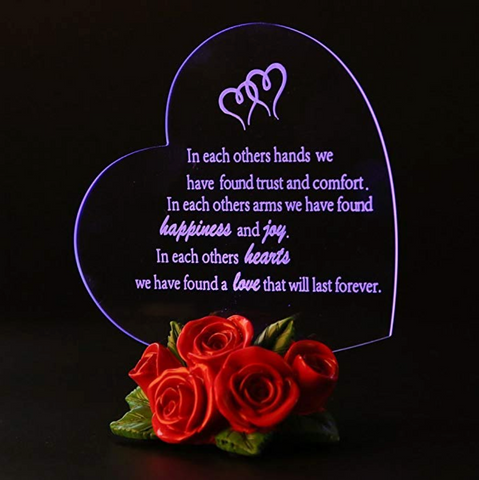 Heart Shaped LED Light (Multiple Phrases) - Looker Gifts